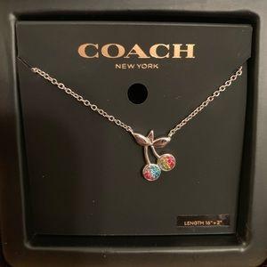 Coach Rainbow 🌈 Cherry 🍒 Necklace